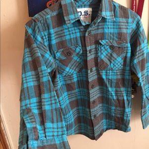 Boy blue flannel